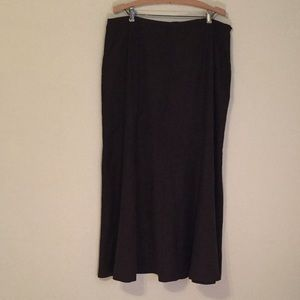 Suede like gored skirt